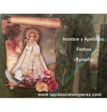 Virgen de monserrate tipo pergamino