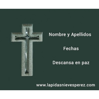 Lápida Cruz Tallada y Pulida